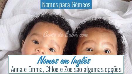 Nomes para Gêmeos - Nomes em Inglês