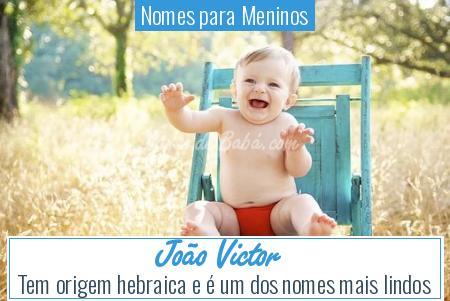 Nomes para Meninos - João Victor