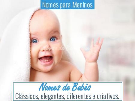 Nomes para Meninos - Nomes de Bebês