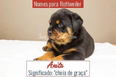 Nomes para Rottweiler - Anita