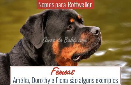 Nomes para Rottweiler - Fêmeas