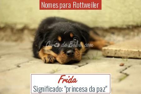 Nomes para Rottweiler - Frida