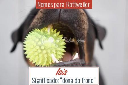 Nomes para Rottweiler - Isis