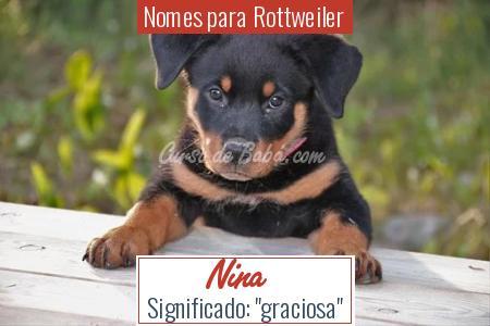 Nomes para Rottweiler - Nina
