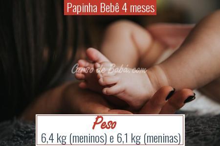 Papinha Bebê 4 meses - Peso