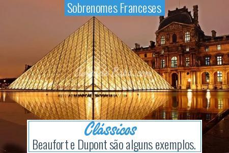 Sobrenomes Franceses - Clássicos