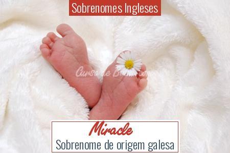 Sobrenomes Ingleses - Miracle