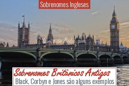 Sobrenomes Ingleses - Sobrenomes Britânicos Antigos