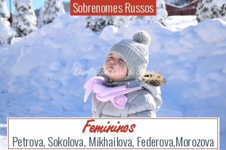 Sobrenomes Russos - Femininos