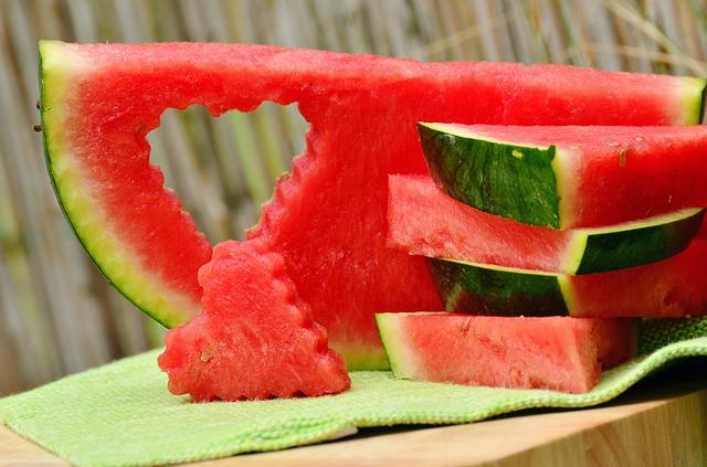 suco e papinha de melancia